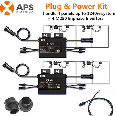 COMPLETE KIT 2 APS YC500A Solar Microinverters for 4 Panels = 4 Enphase M250