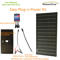 Easy Plug-n-Power Kit 30W 30 Watt Solar Mono Panel Charger 12v Off Grid Battery