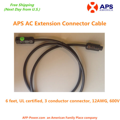 APS AC Extension Connector Cable