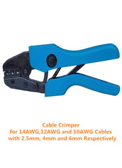 14AWG, 12AWG, 10AWG Cable Crimper for MC4 Connector