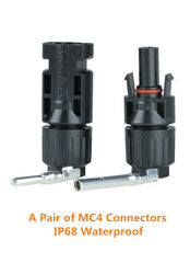 Pair of IP68 Waterproof MC4 Connectors