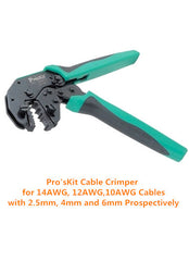 Pro'sKit 14AWG, 12AWG, 10AWG Cable Crimper