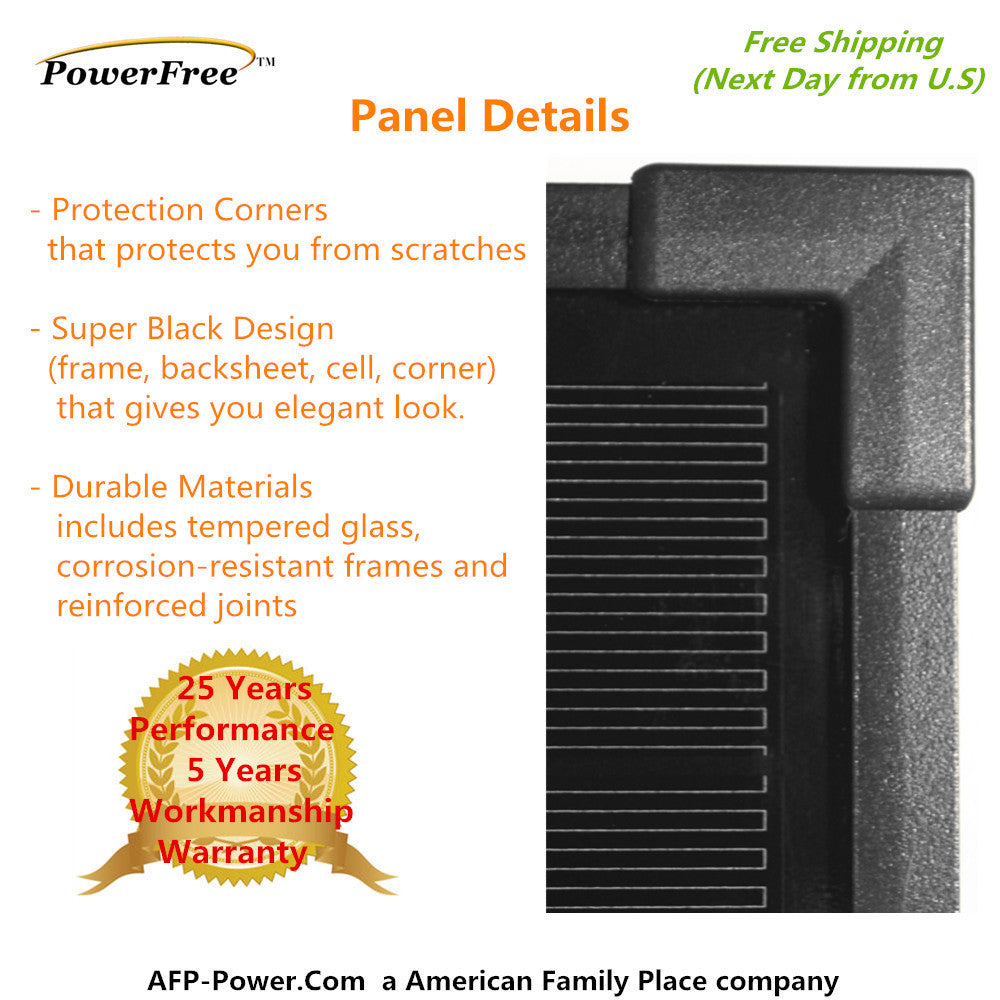 300w 300 Watt 3 100w Solar Panel Plug N Power Space Flex