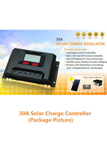 30am Solar Charge Controller for 12-Volt Battery