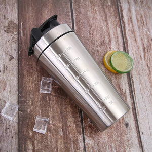 Open image in slideshow, Elite Stainless Steel Protein Shaker Bottle