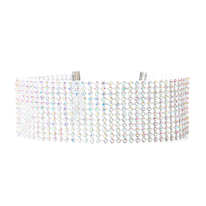 Crystal Collar Choker Necklace - Florence Scovel - 2