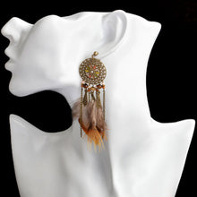 Dream Catcher Feather Tribal Earring