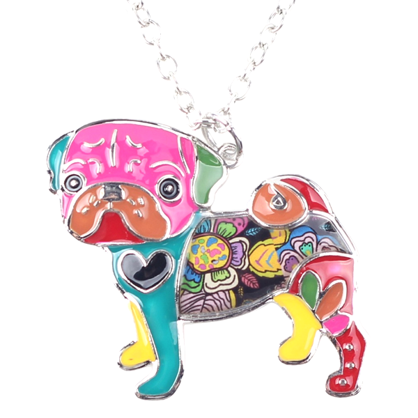 Pug Dog Pendant Necklace - Florence Scovel - 1