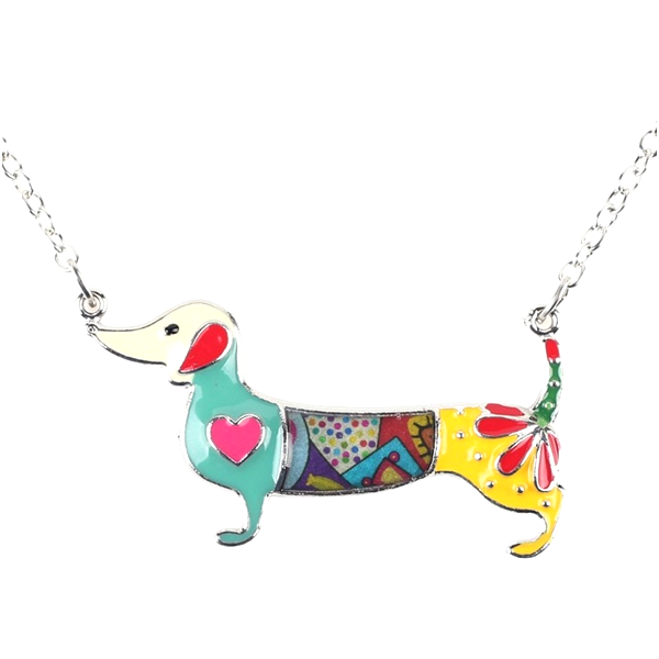 Dachshund Dog Pendant Necklace - Florence Scovel - 1