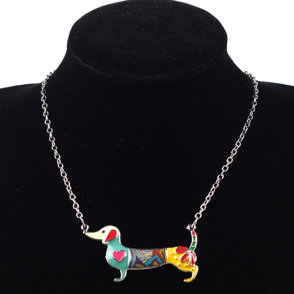Dachshund Dog Pendant Necklace - Florence Scovel - 2