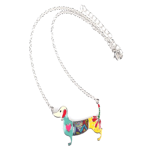 Dachshund Dog Pendant Necklace - Florence Scovel - 3