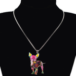 Chihuahuas Dog Pendant Necklace - Florence Scovel - 2