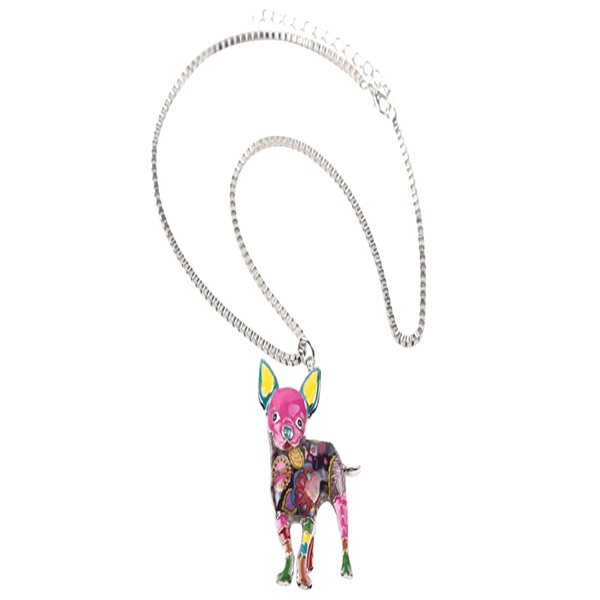 Chihuahuas Dog Pendant Necklace - Florence Scovel - 3