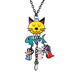 Cat Fish Pendant Necklace - Florence Scovel - 1