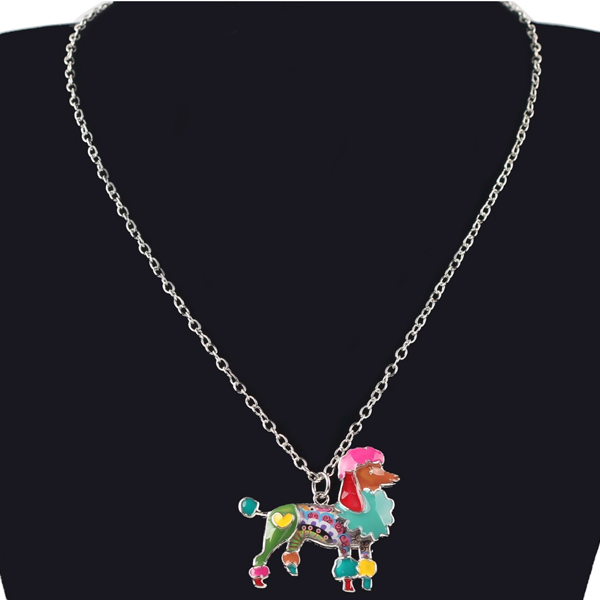 Poodle Dog Pendant Necklace - Florence Scovel - 2
