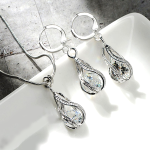 Luxury Crystal Pendant Set