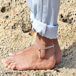 Silver Feather Anklet