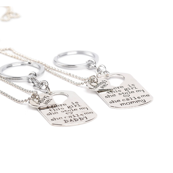 Mommy & Daddy's Girl Pendant Set