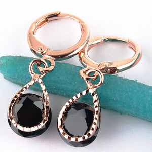 Vintage Rose Gold Crystal Earring