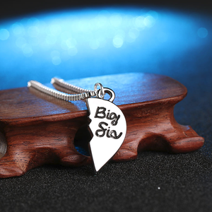 Big-Lil Sister-Mom Pendant Necklace