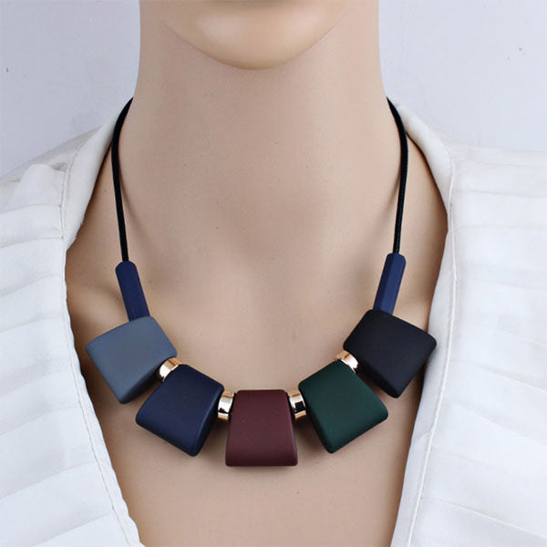 Bohemian Colorful Beads Statement Necklace