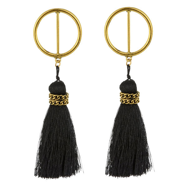 Vintage Gold Bohemian Tassel Drop Earrings