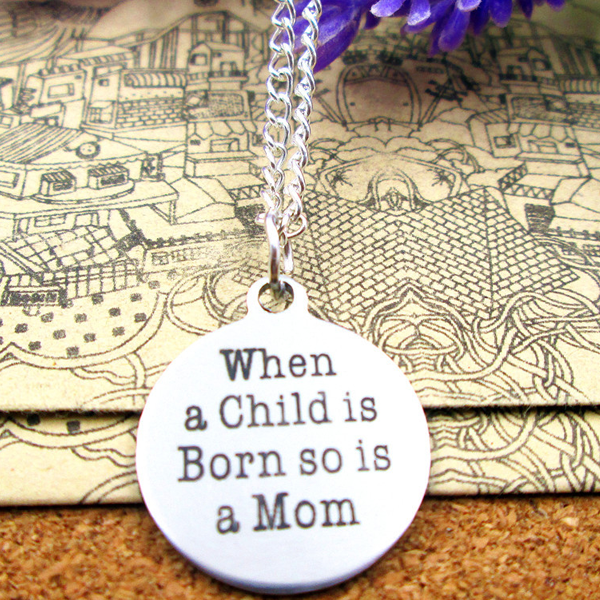 Birth of Child and Mother Necklace