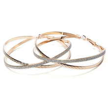Double Band Stardust Hoop Earrings - Florence Scovel - 2