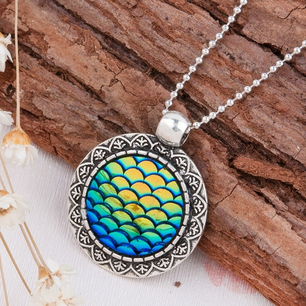 Mermaid Druzy Necklace