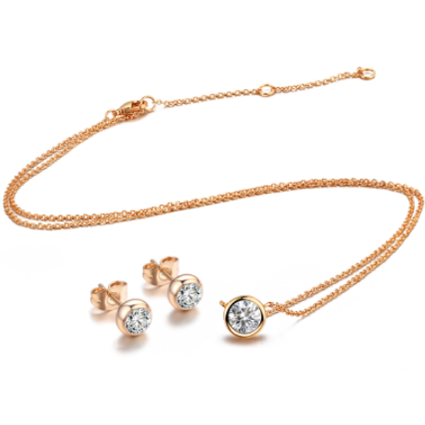 Classic One Crystal Necklace Set