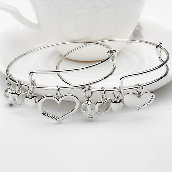 Mother Daughter Charm Bangle Set - Florence Scovel - 1