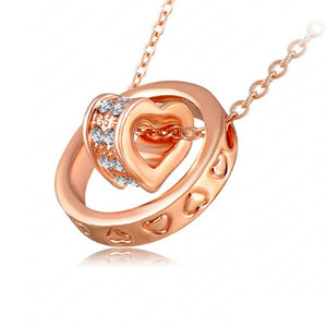 Double Heart Ring Necklace - Florence Scovel - 4
