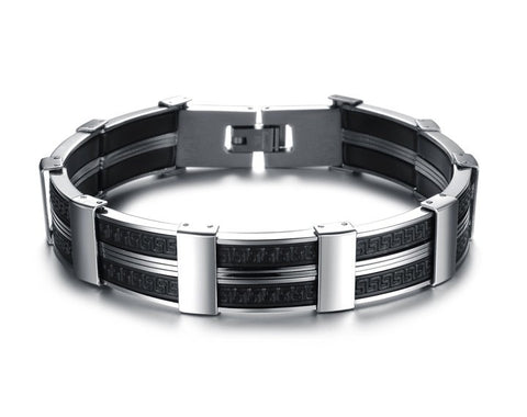 Dark Maze Stainless Steel Men's Bracelet - Florence Scovel - 2
