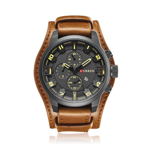 Leather Strap Desert Watch