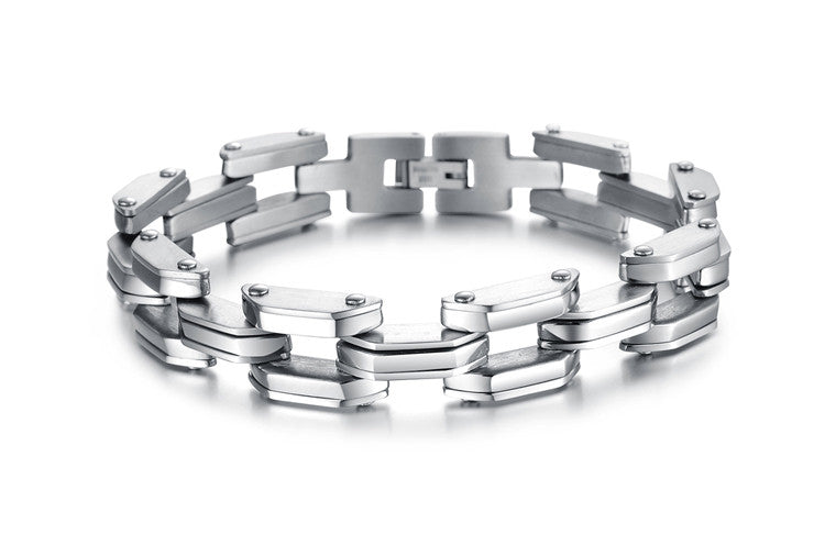 Heavy Tech Stainless Steel Men's Bracelet - Florence Scovel - 2