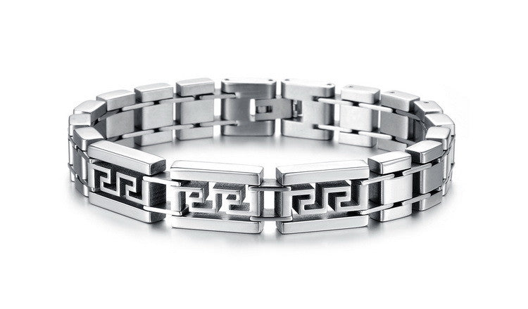 Maze Men's Stainless Steel Bracelet - Florence Scovel - 2