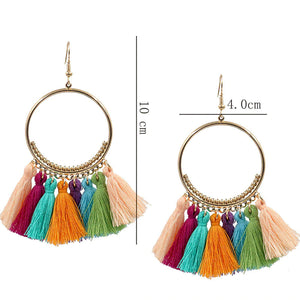 Bohemian Handmade Statement Tassel Earrings