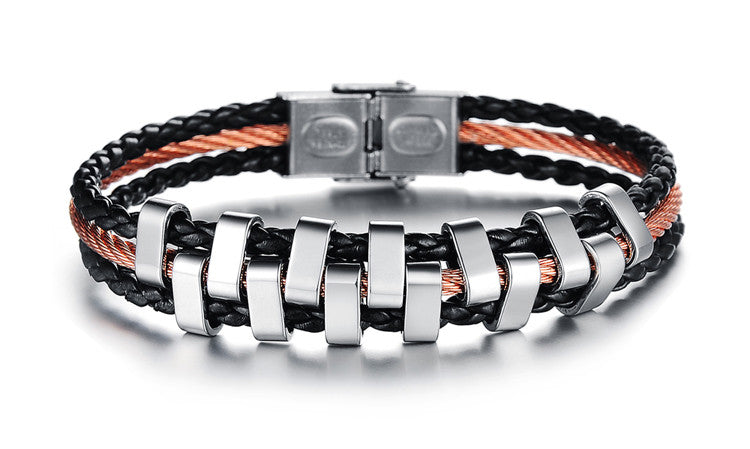 Rough Tracks Stainless Steel Men's Bracelet - Florence Scovel - 2