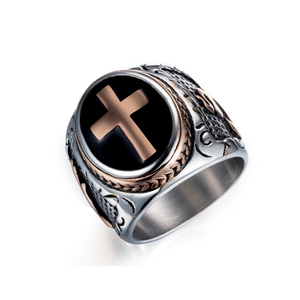 Steel Cross Ring