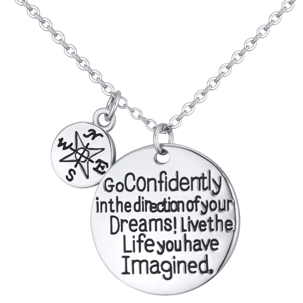 Dream Confidently Charm Pendant - Florence Scovel