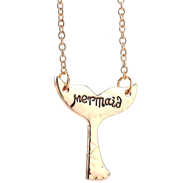 Cute Mermaid Tail Pendant Necklace