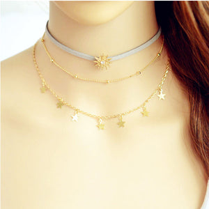 Star MultiLayer Tassel Necklace