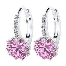 Cubic Zircon Crystal Stud Earrings