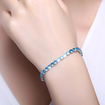 Single Strand Aquamarine Bracelet