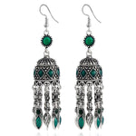 Antique Silver Ethnic Tribal Earring