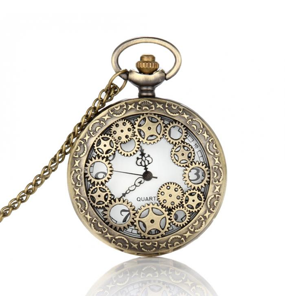 Vintage Bronze Pocket Watch