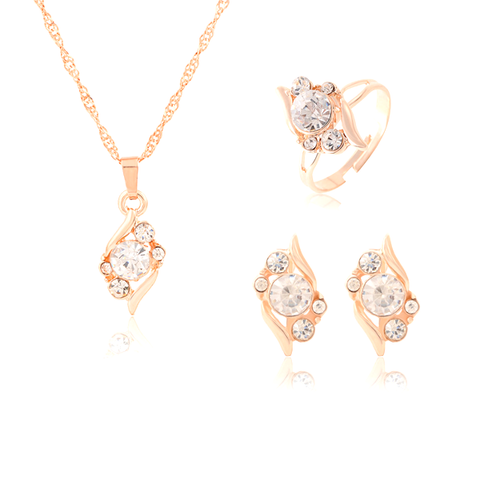 Austrian Crystal Bridesmaid Necklace Set