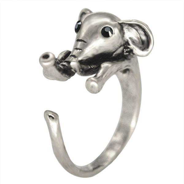 Cute Elephant Adjustable Ring