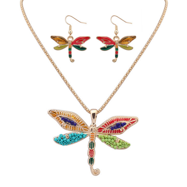 4 Wings Butterfly Hippie Pendant Set