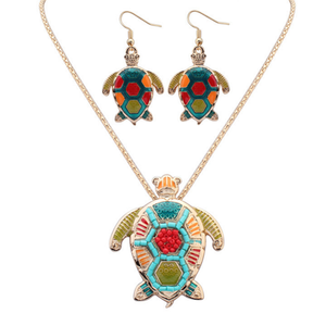 Sea Turtle Hippie Pendant Set